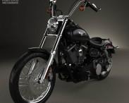 3D model of Harley-Davidson FXDB Dyna Street Bob 2006