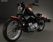 3D model of Harley-Davidson Sportster XL 1200 N Nightster 1986