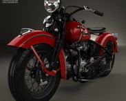 3D model of Harley-Davidson Panhead E F 1948