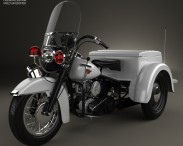 3D model of Harley-Davidson Servi-Car Police 1958