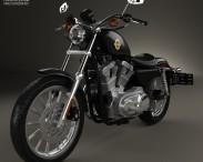 3D model of Harley-Davidson XLH 883 Sportster 2002