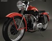 3D model of Harley-Davidson XL Sportster 1957