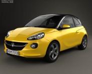 3D model of Vauxhall Adam 2013