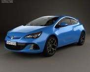 3D model of Vauxhall Astra VXR 2012