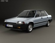 3D model of Honda Civic sedan 1983