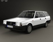 3D model of Fiat Regata Weekend 1984