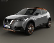 3D model of Nissan Kicks 2014