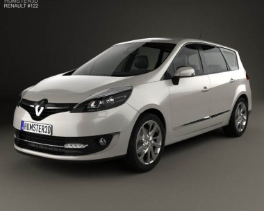 3D model of Renault Grand Scenic 2014