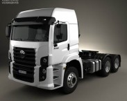 3D model of Volkswagen Constellation (25-390) Tractor Truck 3-axle 2011