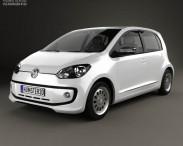 3D model of Volkswagen Up 5door BR-spec 2014
