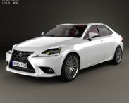 3D model of Lexus IS (XE30) with HQ interior 2013
