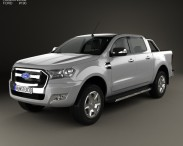 3D model of Ford Ranger Double Cab 2015