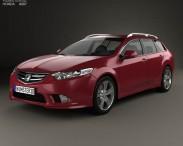 3D model of Honda Accord (CW) tourer Type S 2011