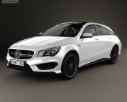 3D model of Mercedes-Benz CLA-Class (C117) ShootingBrake AMG 2014
