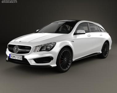 3D model of Mercedes-Benz CLA-Class (C117) ShootingBrake AMG 2014