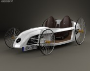 3D model of Mercedes-Benz F-Cell Roadster 2009