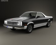 3D model of Chevrolet El Camino 1982