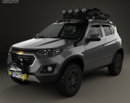 3D model of Chevrolet NIVA 2014