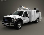 3D model of Ford F-550 Service Truck 2010
