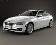 3D model of BMW 4 Series (F36) GranCoupe LuxuryLine US-spec 2014