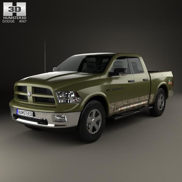 3D model of Dodge RAM 1500 Mossy Oak Edition 2014