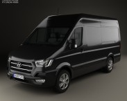 3D model of Hyundai H350 Panel Van 2015