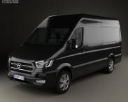 3D model of Hyundai H350 Panel Van 2015