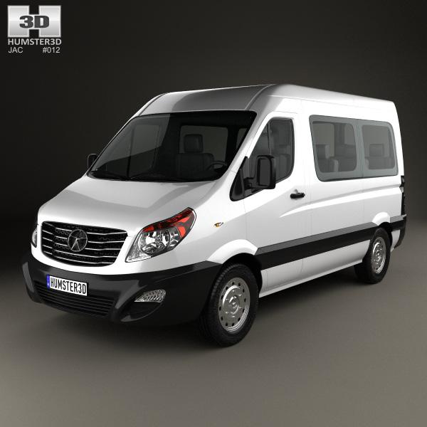 3D model of JAC Sunray Passenger Van SWB SR 2014