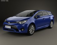 3D model of Toyota Avensis (T270) wagon 2016