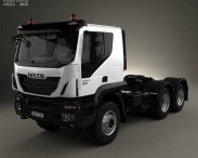 3D model of Iveco Trakker Tractor Truck 3-axle 2013