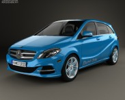 3D model of Mercedes-Benz B-Class (W242) Electric Drive 2014