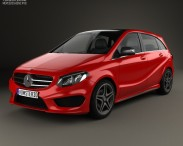 3D model of Mercedes-Benz B-Class (W246) AMG Line 2014
