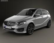 3D model of Mercedes-Benz B-Class (W246) Urban Line 2014