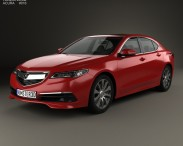 3D model of Acura TLX 2014