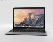 3D model of Apple MacBook Space Gray