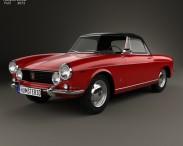 3D model of Fiat 1600 S Cabriolet 1963