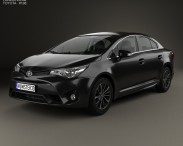 3D model of Toyota Avensis (T270) sedan with HQ interior 2016