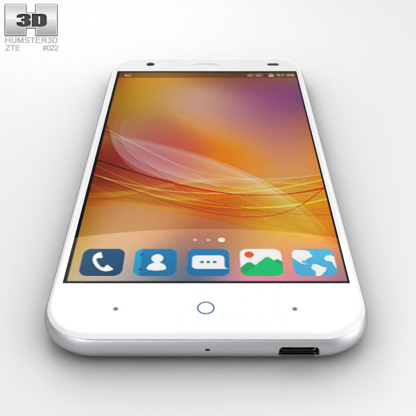 zte blade white items can