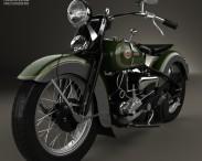 3D model of Harley-Davidson VL JD 1936