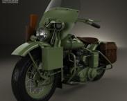 3D model of Harley-Davidson WLA 1941