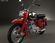 3D model of Honda CA72 Dream 1962