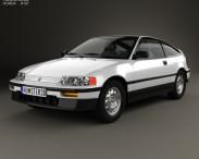 3D model of Honda Civic CRX 1988