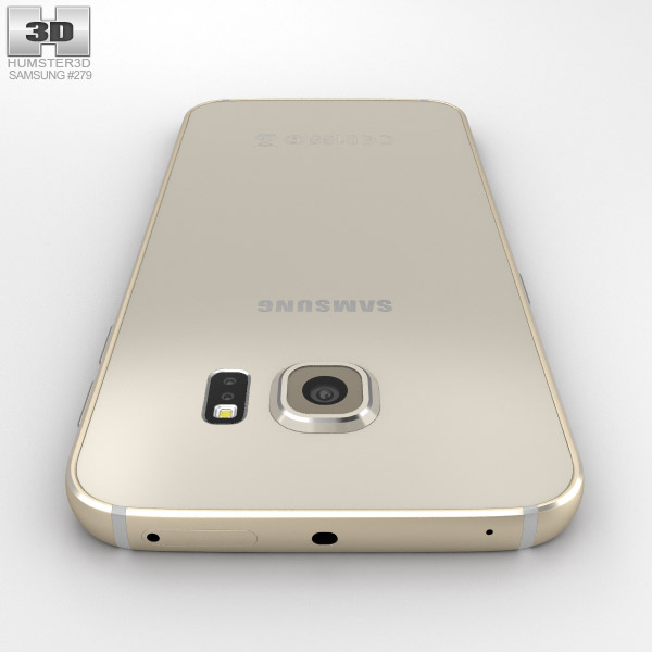 Samsunf Platinum: Samsung Galaxy S6 Edge Gold Platinum 3D Model