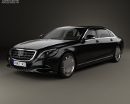 3D model of Mercedes-Benz S-Class (W222) Maybach 2016