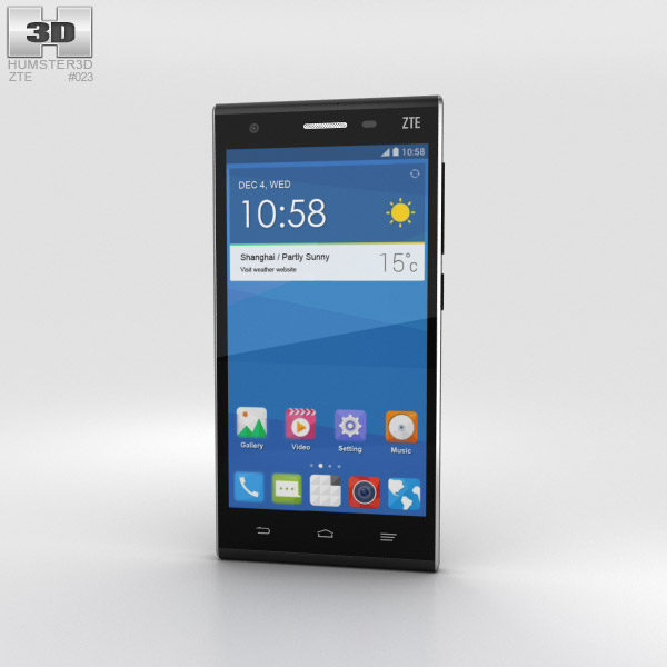 3D model of ZTE Star II Black