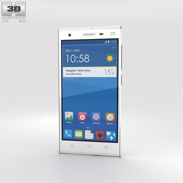 3D model of ZTE Star II White