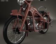 3D model of Honda Dream Type D 1951