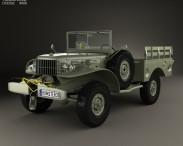 3D model of Dodge WC-52 (T214) 1942