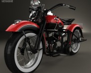 3D model of Harley-Davidson 45 WL 1940