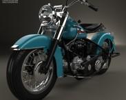 3D model of Harley-Davidson Panhead Hydra-Glide E F 1949